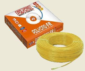 Polycab  Hffr Pvc Insulated Flexible Cable Single Core 0.75 Sq. Mm 300 Mtr - Yellow