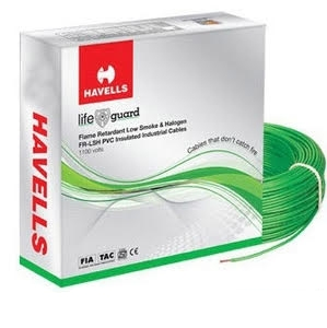 Havells Flame Retardant Low Smoke Halogen Cable Green 90 M 4 Sq.Mm