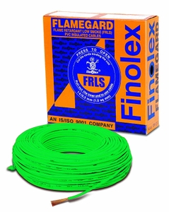 Finolex Flame Retardant Low Smoke Halogen Cable Green 90 M 1 Sq.Mm
