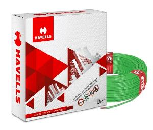 Havells Life Guard Whfffngf16x0 Fr-Lsh Pvc Insulated Flexible Cable Single Core 6 Sq. Mm 200 Mtr - Green
