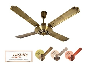 Luminous Tcfbe48e74200 Inspire Brushed Nickel Ceiling Fan