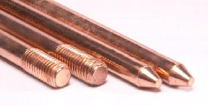 Vasudha Copper Bonded Solid Rod 250 Micron Earthing Electrode 1 Metre 40/1
