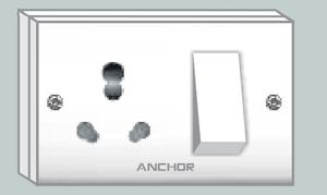 Anchor Combined Unit Box With 2 Fixing Holes Socket Switch