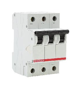 Indo Asian 1 A Three Pole D Curve Optipro Miniature Circuit Breaker