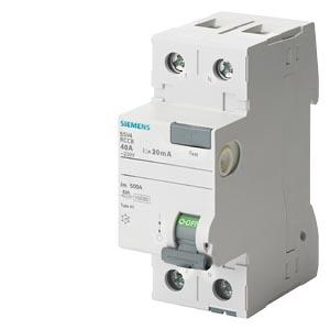 Siemens 5sv Betagard Rccb Applicable In Networks With Ac And Pulsating Dc Residual Currents 5sv36476rc