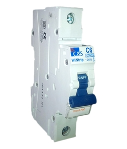 C&S Electric Csmbs1c0.5n Miniature Circuit Breaker (Mcb) Single Pole + Neutral C Curve Type 0.5 A