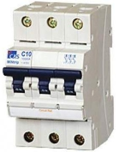 C&S Electric Csmbs3c4n 4 A Three Pole + Neutral Miniature Circuit Breaker (Mcb)