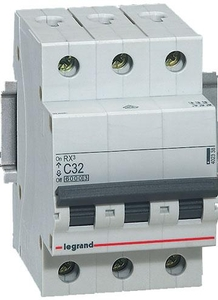 Legrand 4086 69 3 A Three Pole + Neutral Mcb