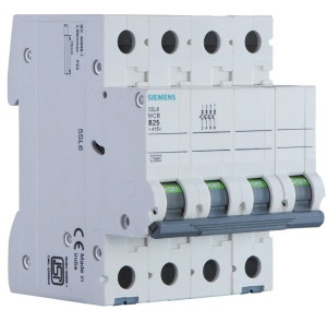 Siemens 5sl64507rc 50 A Four Pole Mcb