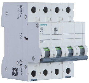 Siemens 5sl64166rc 16 A Four Pole Mcb