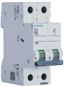 Siemens 5sl42207rc 20 A Two Pole Mcb