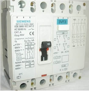 Siemens 3vl1710-1eh46-0aa0 4 Pole Molded Case Circuit Breaker Mccb (Rated Current 100 A)