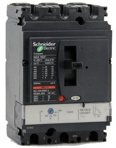 Schneider Nks100r063ac3p Fixed Thermal Magnetic Trip Unit 3 Pole Molded Case Circuit Breake