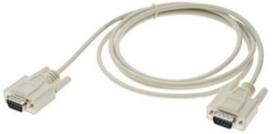 Db9 Male To Male Data Cable (1.5 Mtr., Light Grey)