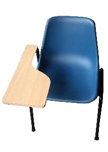 Exclusive Furniture Blue Plastic Seat With Writing Pad Training Chair Schbs01