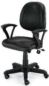 Exclusive Furniture Black Leatherette Computer Chair Cchb01