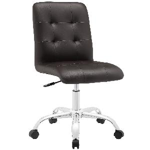 Exclusive Furniture Zingy Office Chair In Brown Leatherette Cochbr04