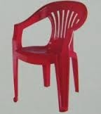 Nilkamal Mid Back Plastic Chair - Pear Wood - Chr 2101