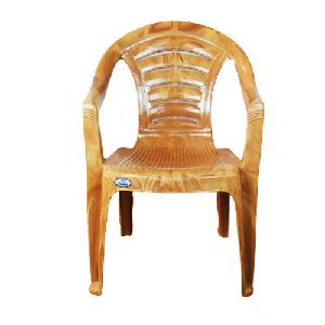 Nilkamal Mid Back Plastic Chair - Pear Wood - Chr 2123