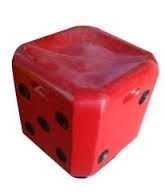 Utility Red Dice Stool