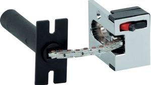 Buy Hafele 911.59.095 Nickel Matt Spring Loaded Security ...