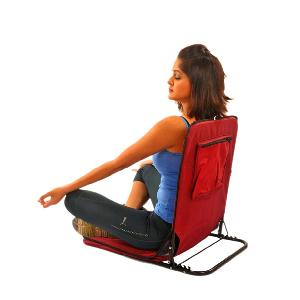 Sanushaa Folding Meditation Yoga Chair S_113 Red