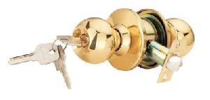 Spider Cylindrical Entrance Lock With 3 Brass Computer Keys - Cl11pb