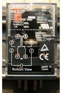 Omron Mks2p Ac110 24.2 Ma Latching Relay