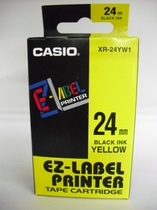 Casio Labeling Tape Yellow Xr-24yw