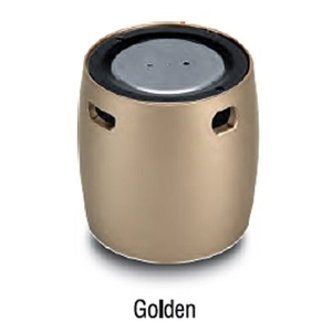 Iball Wired Bluetooth Speaker Mic Golden - Lil Bomb70