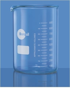 Borosil 1000d12 Capacity 50 Ml Low Form With Spout Beaker