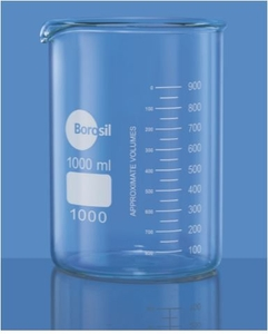 Borosil 1000d23 Capacity 400 Ml Low Form With Spout Beaker