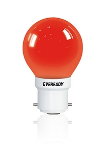 Eveready Led Bulb Led Night Bulb 0.5w B22 Pin Type (Red)