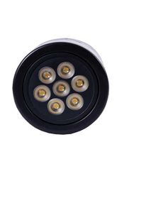 Noble Electricals Ne/Sdl7*1 8.4w Amber Black Powder Coated Led Down Light