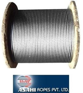 Asahi Ungalvanized Steel Wire Rope (Sc) - Dia  15mm, Size  6x37mm
