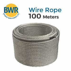 Bharat Ropes Galvanized Fiber Core(Dia-18mm, Size-6x36 Mm) Steel Wire Rope
