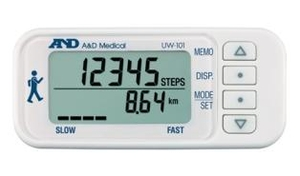 And White 3-Axis Digital Pedometer Uw-101