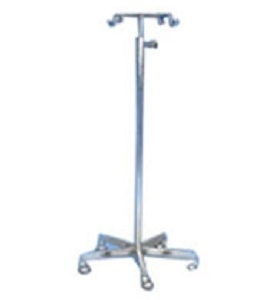 Ib Basics Saline Stand S.S. Base With Pipe Wh-133
