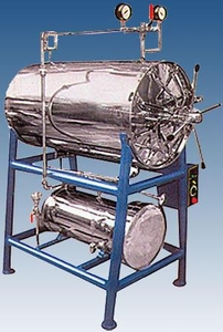 Royal Scientific Triple Walled 165 Ltr. Horizontal Autoclave Rsw 146 A Stainless Steel/Mild Steel