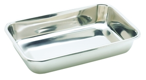 Ib Basics Stainless Steel Instrumental Tray Without Cover 10x8 Inch