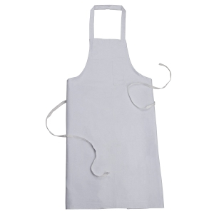 Sanctum 6xl White Polyester And Cotton Blend Apron Swm 5004