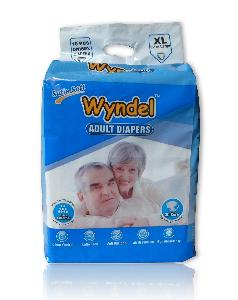 Wyndel Adult Diapers Extra Large - 10 Pcs Combo Of 8 Pack
