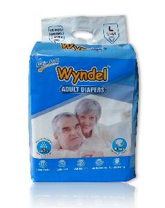 Wyndel Adult Diapers Large - 10 Piece