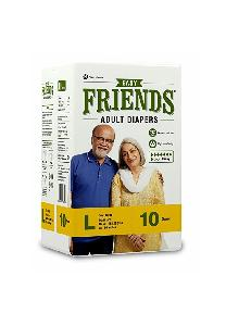 Nobel Large Friends Easy Adult Diaper - (Pack Of 10 Pcs)