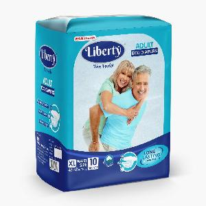 Liberty Adult Diaper, Extra Large -10 Pcs (120-170 Cms || 48-68 Inch)