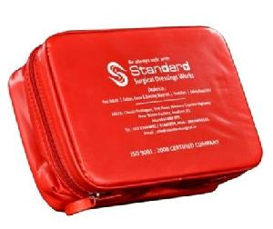 Standard Red Rexine Pouch Civil Defence Kit