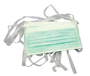 Safeshield Green 2 Ply Disposable Tie Face Mask