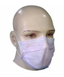 Sms 3-Ply Ear Loop Pink Surgical Face Mask (Pack Of 100)