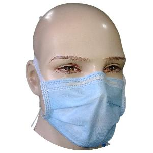Nuvo Medsurg Disposable Face Mask 4 Ply With Tie (Blue) Pack Of 100