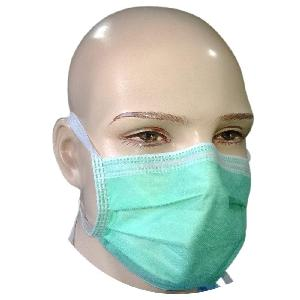 Nuvo Medsurg Disposable Face Mask 2 Ply With Tie (Green) Pack Of 100